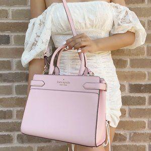 Kate Spade  Satchel Crossbody Light Crepe Pink Leather